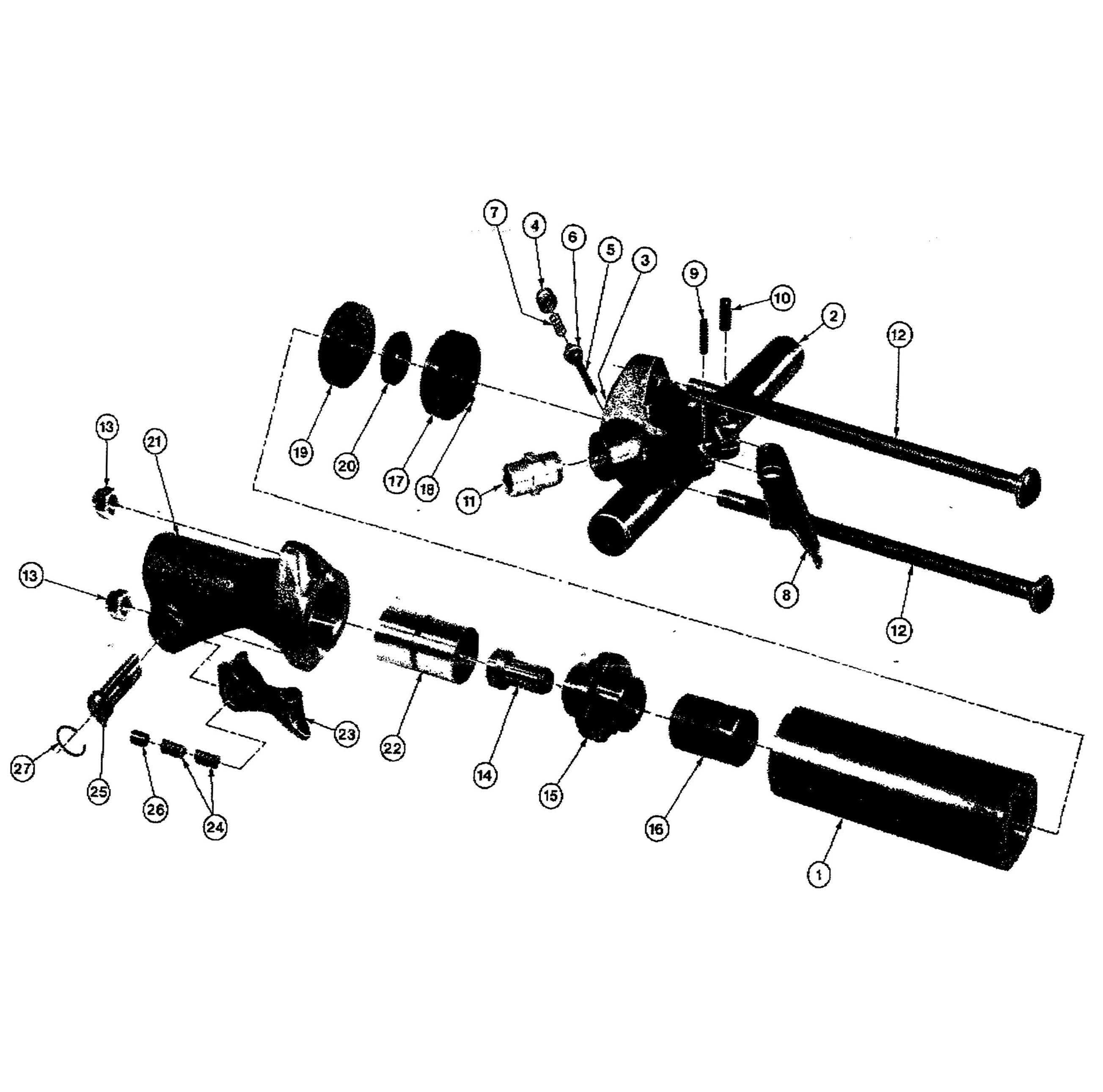 ingersoll rand air tools parts breakdown
