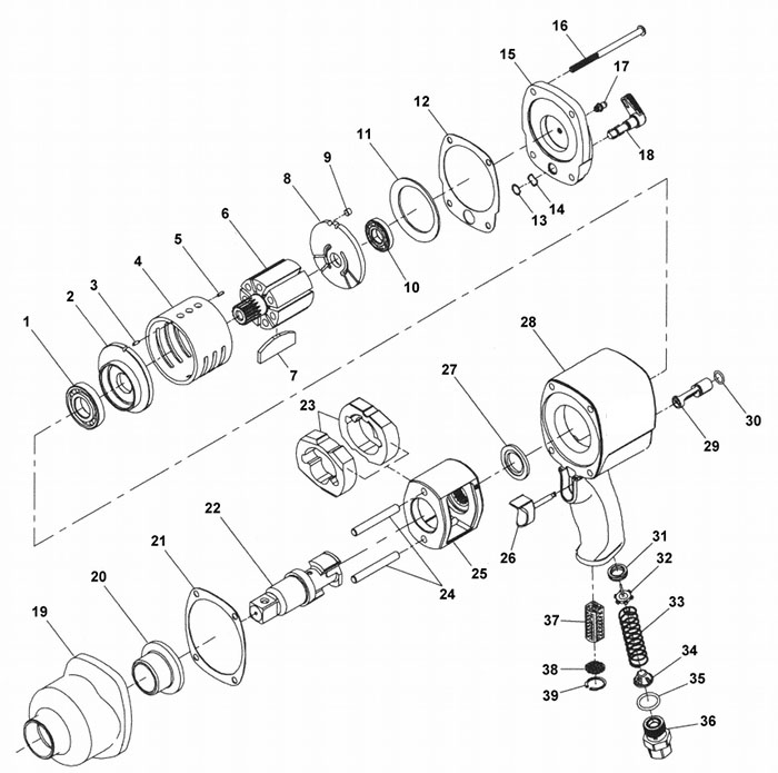 Ir 2925 Impact Wrench 3 4 Quot Amp 1 Quot Page 1 Of 1